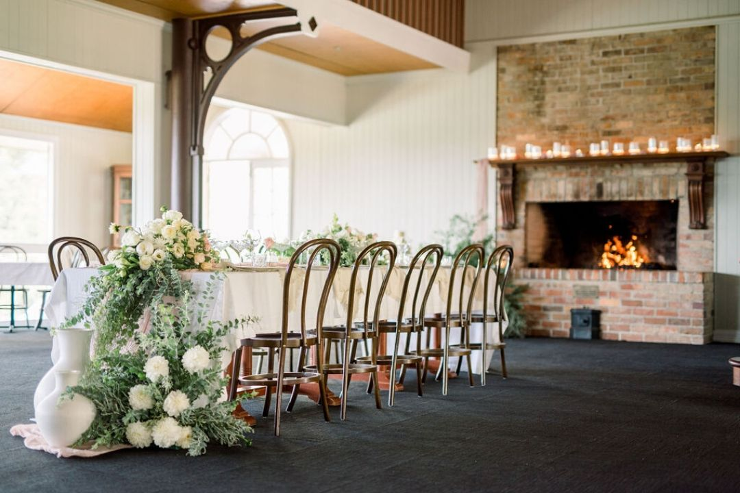 Hampton House Precinct Wedding Table Styled by fire