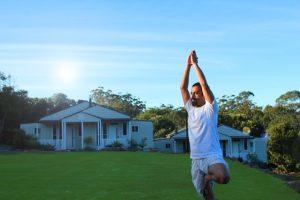 traditional yoga australia with hampton estate wines